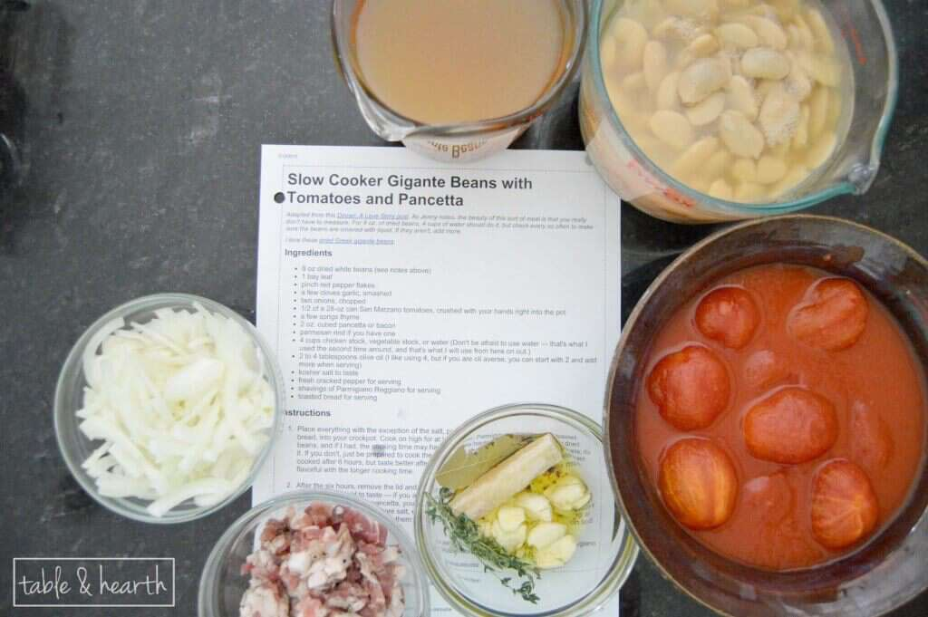 A hearty and easy soup with cannellini beans and pancetta