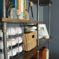 DIY INDUSTRIAL PIPE SHELVES - Awesome tutorial on how to build these completely customizable pipe shelves! www.tableandhearth.com