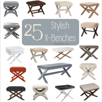 Yes! Awesome roundup of x-benches to use in home decor!