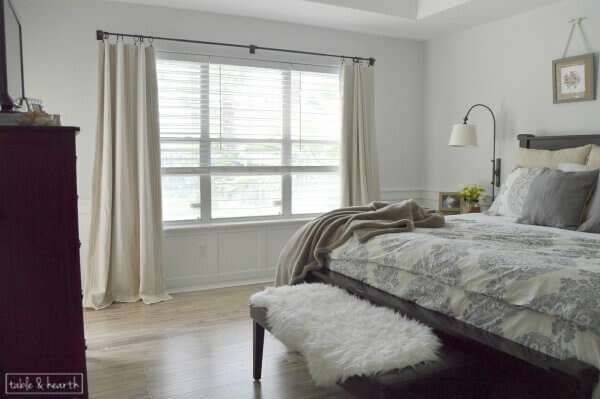 A calm, fresh, and relaxing master bedroom makeover, with just a little touch of coastal!