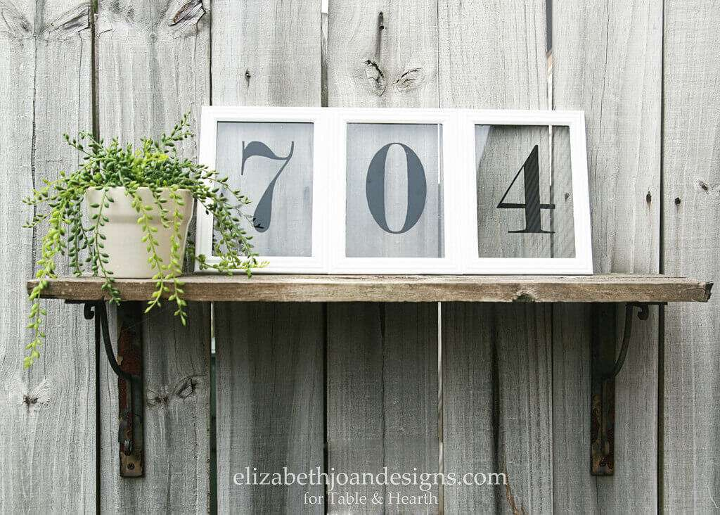 Picture frame house numbers table and hearth for House number frames