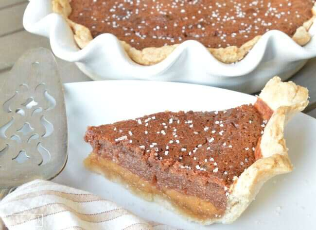 Chocolate Salted Honey Pie - This unique pie is filled with rich honey ...