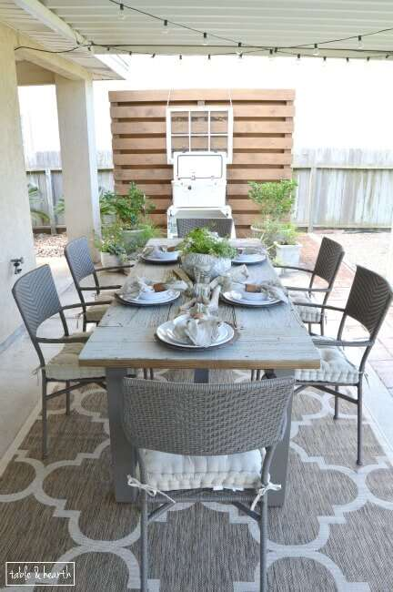 To Make A Rustic Statement Dining Table For Their Outdoor Patio