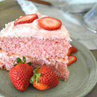 YUM!! Gonna Want Seconds' moist and delicious strawberry cake!