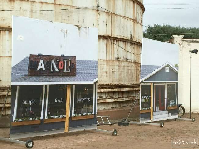 The magnolia market and the silos grand opening party in waco texas celebrating with