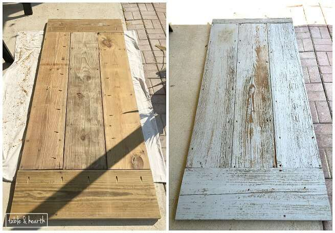 DIY Farmhouse Dining Table with Reclaimed Wood Table and Hearth