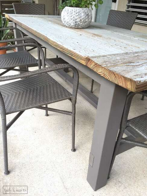 DIY Farmhouse Table   Gorgeous  This blogger used discarded old lumber to  make a rustic. DIY Farmhouse Dining Table with Reclaimed Wood   Table and Hearth