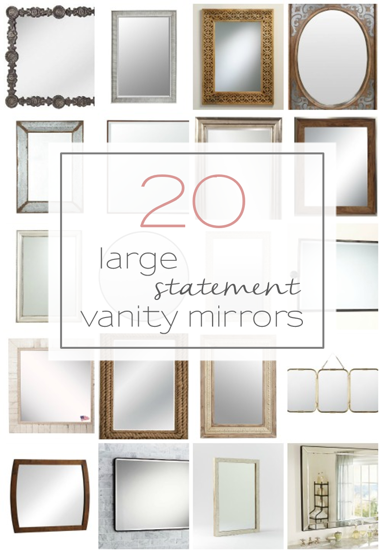 20 Big Beautiful And Unique Vanity Mirrors For Your Bathroom Tableandhearth