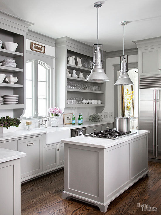 12 gorgeous and bright light gray kitchens table and hearth Kitchen design light grey
