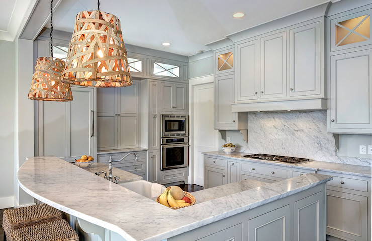 12 Gorgeous and Bright Light Gray Kitchens | Table and Hearth
