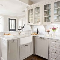 Rustic Gray Farmhouse Kitchen REVEAL TH Kitchen Makeover Table - Light gray cabinet paint