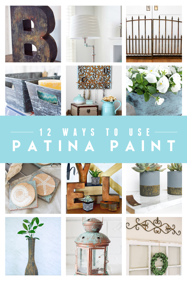 12 Super Creative Ways to Use Patina Paint! See what these 12 bloggers did with the amazing Modern Masters Metal Effects patina kits!