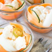 Spicy PIckled Carrot and Cucumber Salad - This classic restaurant app is surprisingly easy to make and is a perfect healthy snack or party app! www.tableandhearth.com