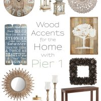 Warm up your home decor with beautiful rustic wood pieces from The Wood Shop at Pier 1! #sponsored www.tableandhearth.com