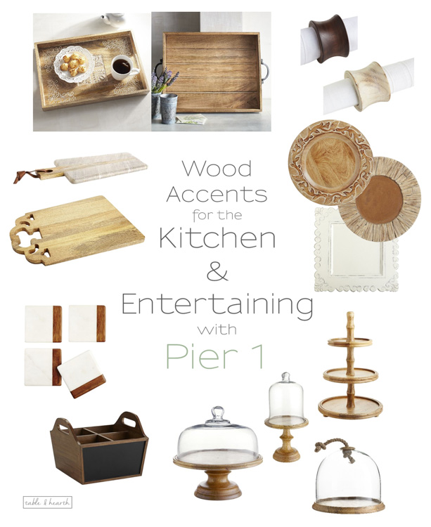 Warm up your home decor with beautiful rustic wood pieces from The Wood Shop at Pier 1! www.tableandhearth.com #pier1love