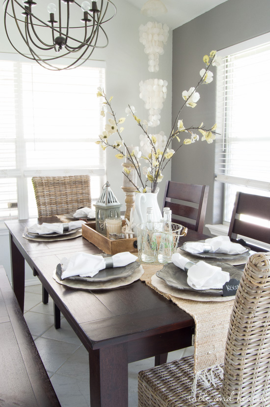 Dining Room Update: A Coastal Farmhouse Table Setting | Table and Hearth