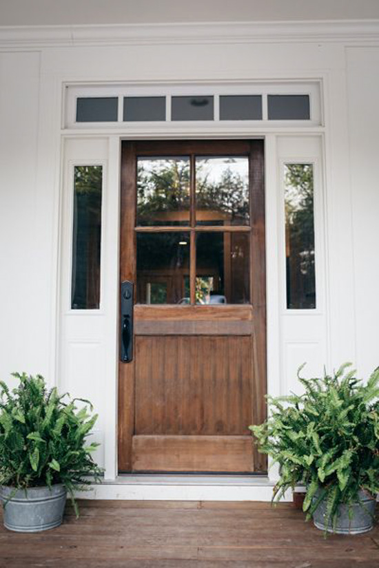 20 beautifully classic farmhouse stained wood doors for White wooden front doors