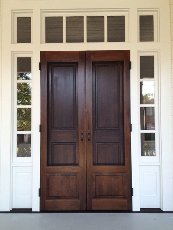 20 beautifully classic farmhouse stained wood doors for Doors for front door