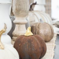 A quick and easy pumpkin craft for fall! Update those faux pumpkins with a beautiful rust finish!