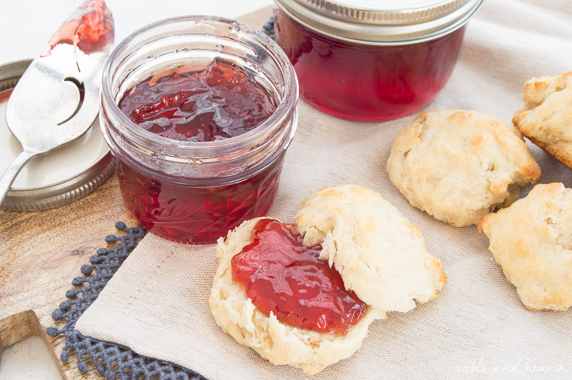 This tangy and sweet American beauty berry jelly makes good use of the berries from this southern US native shrub!