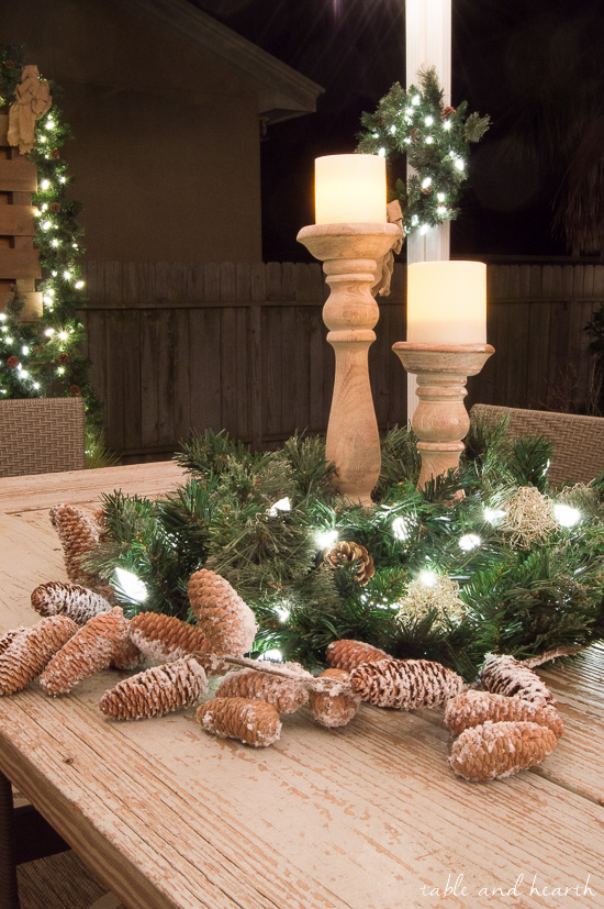 Quick And Easy Hassle Free Outdoor Christmas Decor Table