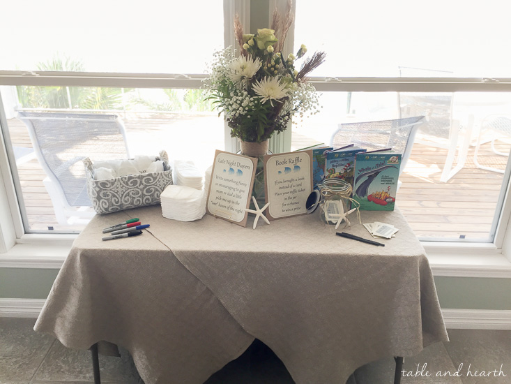 Beautiful coastal baby shower!