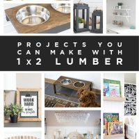 12 awesome projects from 1x2 lumber!