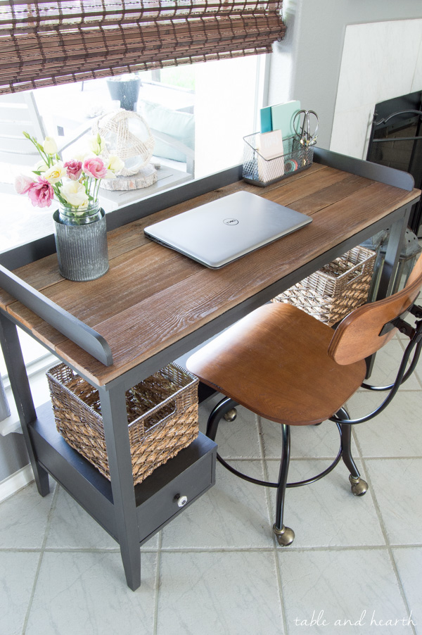 Transform A Boring Old Desk With FAT Artisan Chalk Paint And Some Reclaimed  Wood To Make
