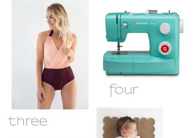 Six of my favorite finds lately, including a cute teal sewing machine, stylish baby mat, and the easiest to install bronze doorknobs!