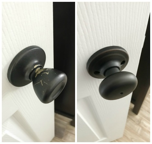 The easiest doorknobs to install EVER!