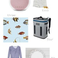 A few of my summer favorites including a stylish bluetooth speaker, backpack cooler, and beautiful coral mirror!